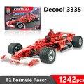 1242 unids decool 3335 bloques de construcción de Juguete 1:8 modelo de coche de Carreras de Fórmula F1 ladrillos autoblocante Regalo Compatible