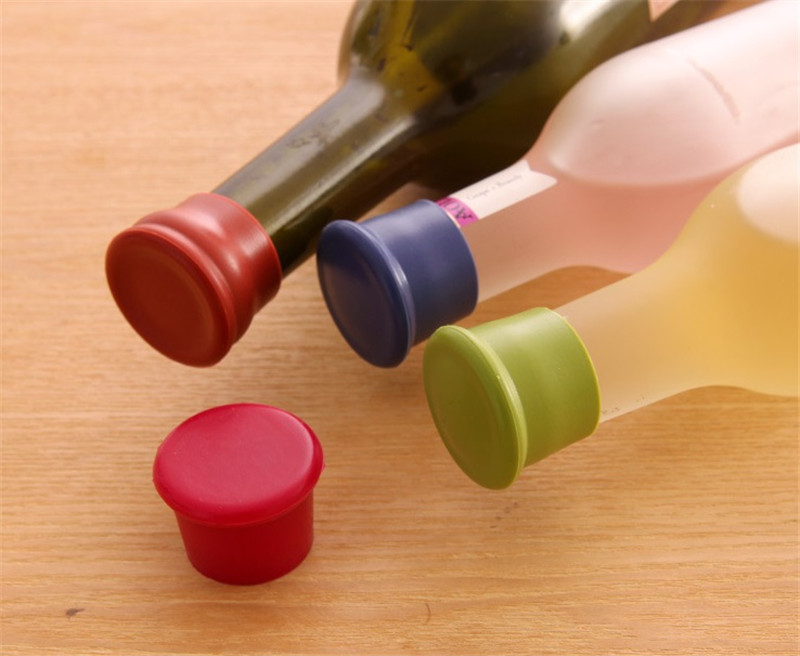 2018 New silicone wine stoppers Leak free wine bottle sealers for red wine and beer bottle cap
