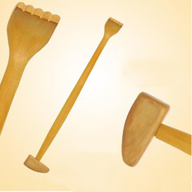 Wooden Back Scratcher Hammer Wood Back Scraper Scratching Massager Backscratcher Body Massage Bamboo Hackle Itch Health Products  цена