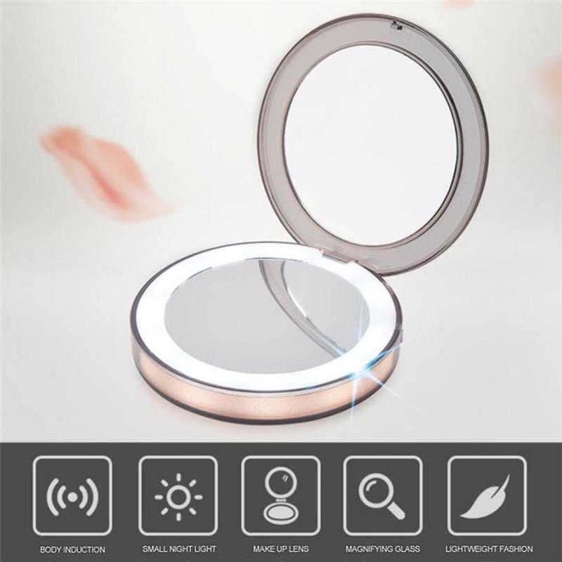 Obliging Makeup Vanity Tables Dresser For Bedroom Set Led Light Makeup Mirror 3 Times Magnifying Glass Induction Lighting Makeup Mirror High Resilience