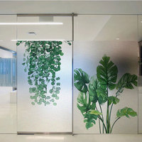 Office windows film sticker Custom size stained frosted glass home foil door glass stickers PVC self adhesive windows decoration