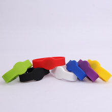 5pcs 13.56MHz RFID NFC Wristband Bracelet Ntag203(ntag213) Watch Type Silicone Proximity Card for All NFC android Phone(China)