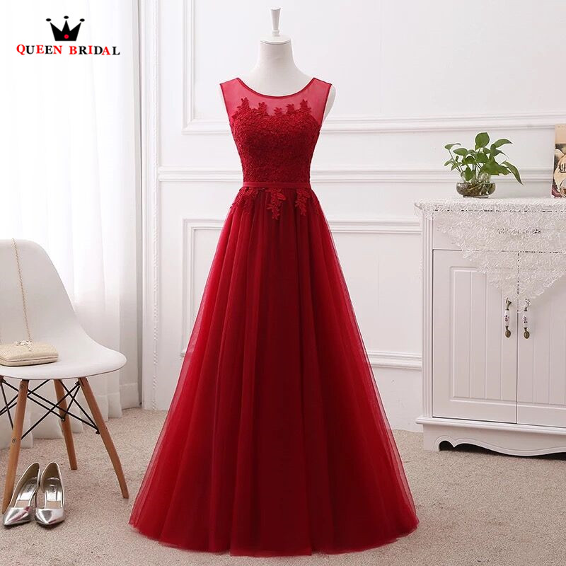 A line Lace Tulle Evening Dresses Long Formal Elegant Many Colors 100 Real Photo Party Dress