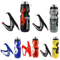 650ml Bicycle Waterbottle Mountain Road Bike Water Bottle Outdoor Cycling Kettle Portable with Bottle Holder Bike Accessory