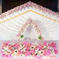 Artificial Silk Flower Wedding Road Lead Hydrangea Peony Rose Flower for Wedding Arch Square Pavilion Corners Decorative Flores