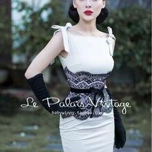 200c0ae6f copi copi Le Palais Vintage elegant retro light beige lace sexy stitching  slim dress. US  63.00   piece Free Shipping