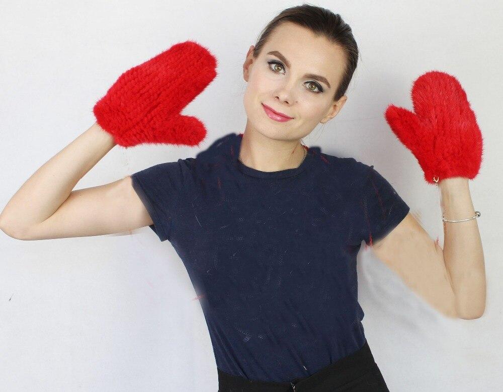 Linhaoshengyue shopping gratuit fourrure vison gant femmes