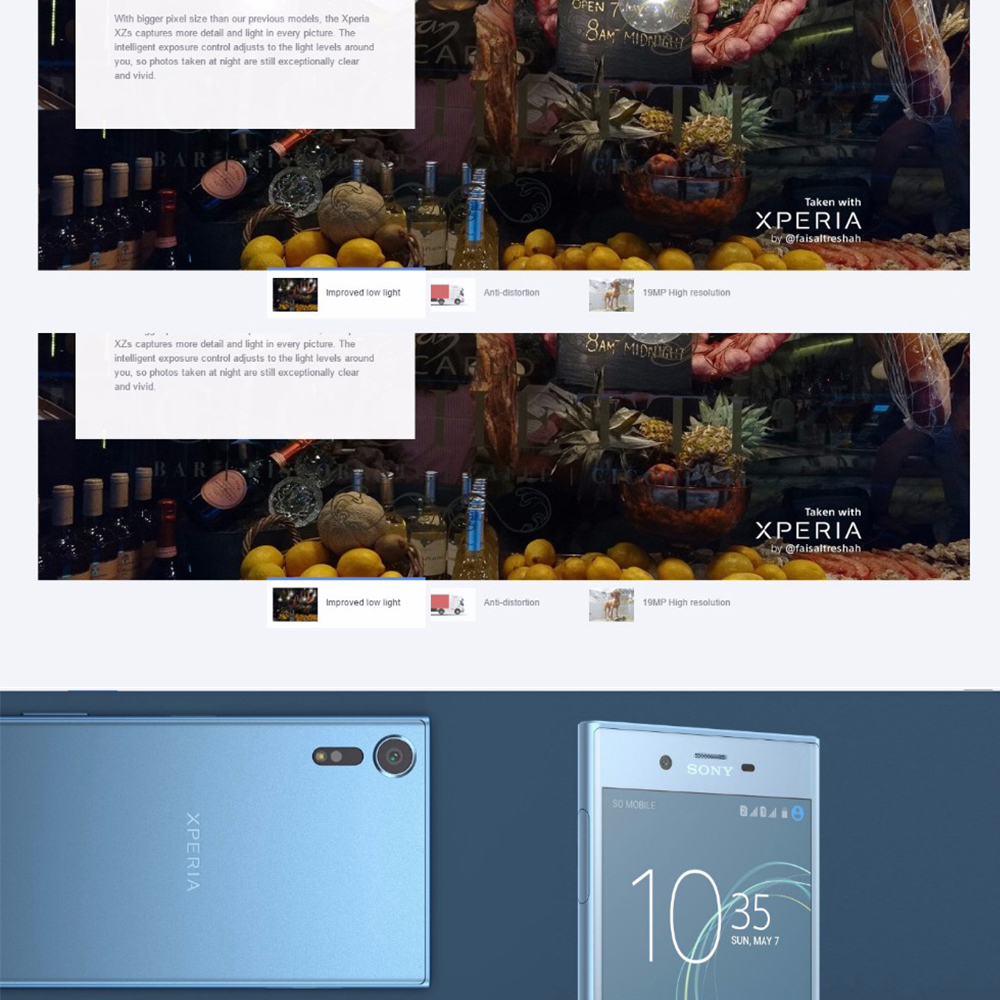 2017 NEW Original Sony Xperia XZs G8232 Mobile Phone 5.2″ 4GB RAM 64GB ROM 19MP Snapdragon 820 Dual SIM LTE Cell Phone 2900mAh