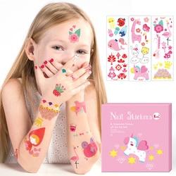 Rocha dedo Crianças Tatuagens Temporárias Etiqueta Do Prego DIY Bonito Tatuagens Temporárias Adesivos À Prova D' Água Crianças Brinquedos Dos Desenhos Animados Bouquets