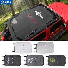 MOPAI 2/4 drzwi samochodu górna osłona przeciwsłoneczna dach Anti UV Sun Protect Mesh netto dla Jeep Wrangler JK 2007 2017 akcesoria samochodowe stylizacja