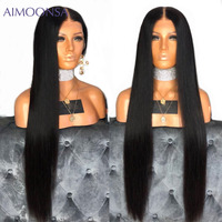 250 плотность Синтетические волосы на кружеве парики человеческих волос с детские волосы глубокая часть 13x6 Синтетические волосы на кружеве