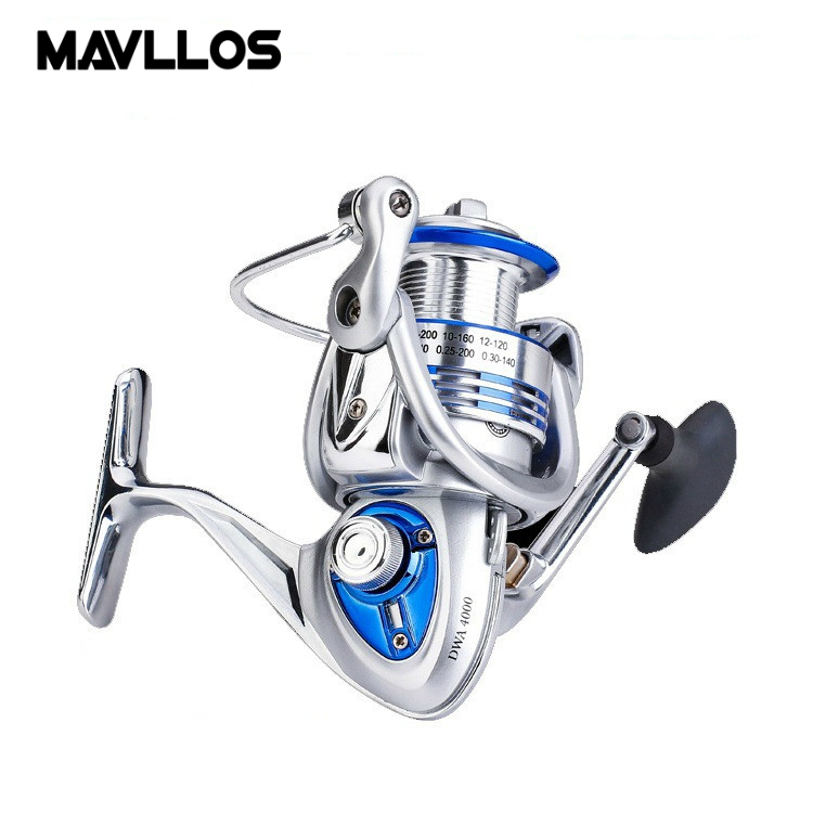 Mavllos 14BB Double Bearing System Carp Fishing Spinning Reel 3000 6000 Metal Seat Saltwater Fishing Reel Left Right Handle