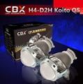 Lente del proyector de 3 Pulgadas Q5 Koito bi-xenón D2S D2H HID Bi-xenon Lente Del Proyector LHD/RHD Instalación rápida para H4 linterna Del Coche