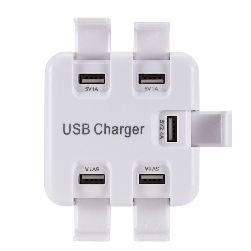 5 Ports Multi USB Charger Smart Sockets Electrical Plug Multi-hub Adapter Charging Station Dock Universal for iPhone Samsung