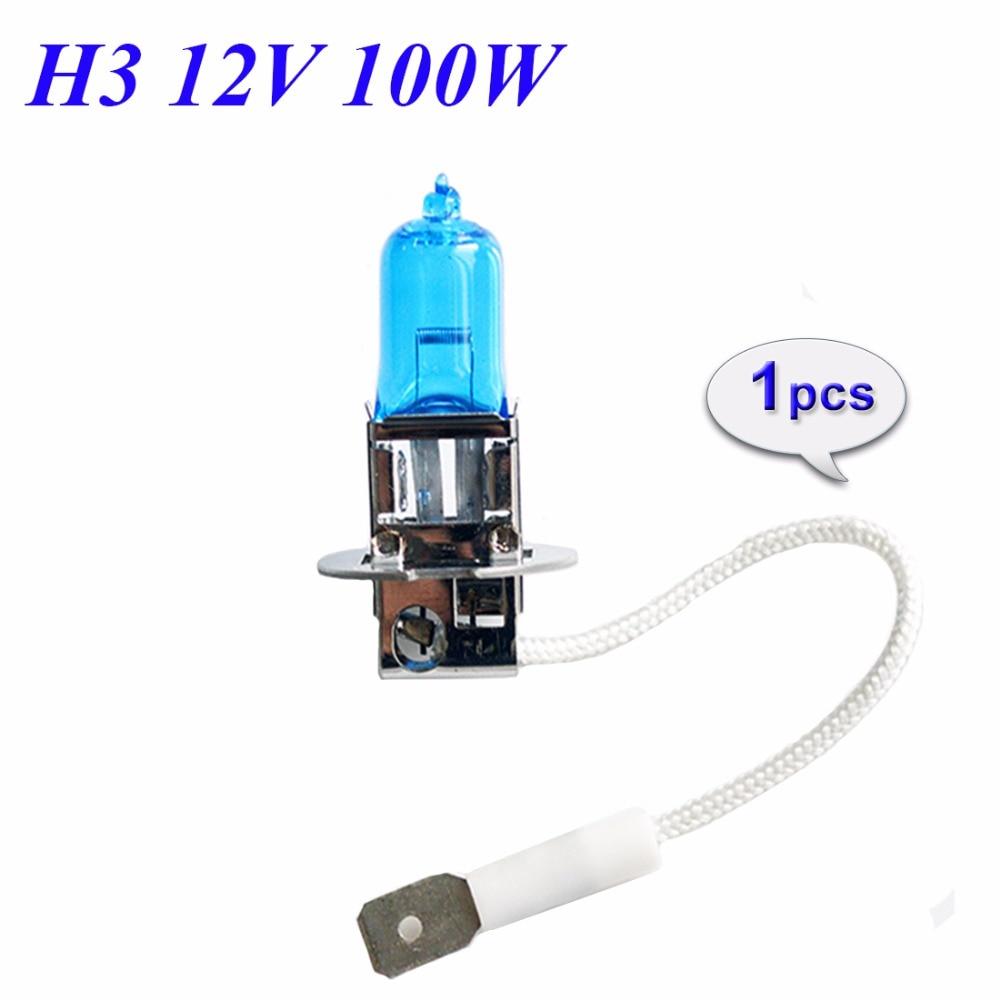 Flytop H3 12 в 100 Вт галогенная лампа, ксеноновая яркая супер белая темно-синяя кварцевая стеклянная Автомобильная противотуманная фара, автомобильная лампа