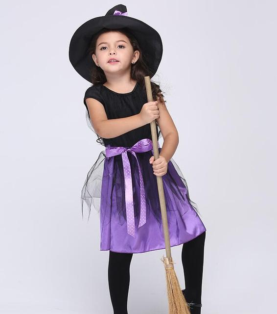 d5c0a85e1e09b 女の子魔女ドレス+帽子子供の日衣装プリンセスパーティードレス子供子供服カーニバル