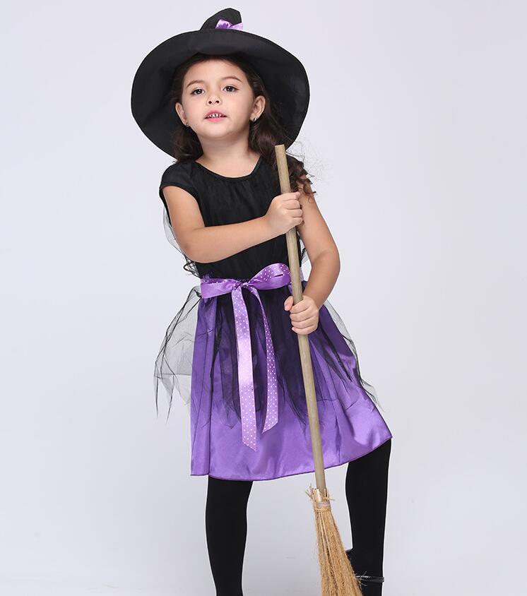 ᑐVestido de la bruja de la muchacha + sombrero trajes de Día de los ...