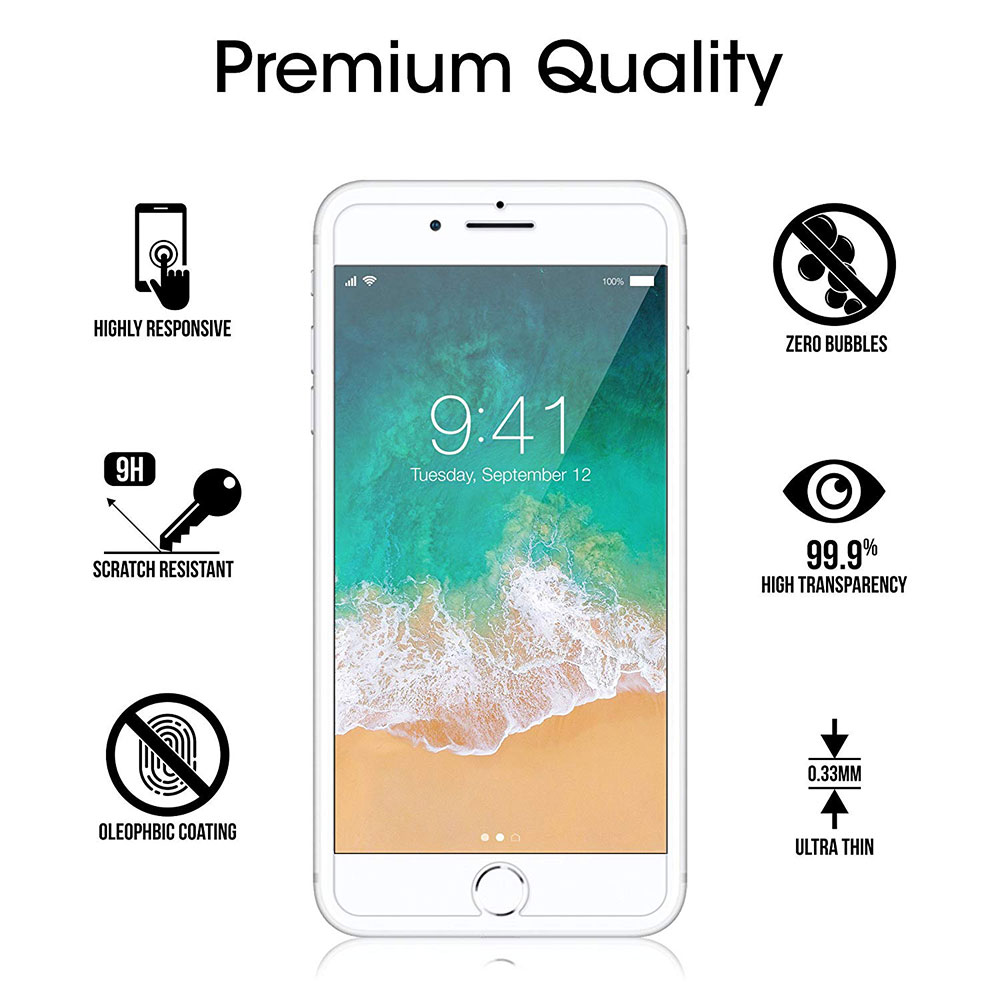 Protective tempered glass for iphone 6 7 5 s se 6 6s 8 plus XS max XR glass iphone 7 8 x screen protector glass on iphone 7 6S 8 (4)