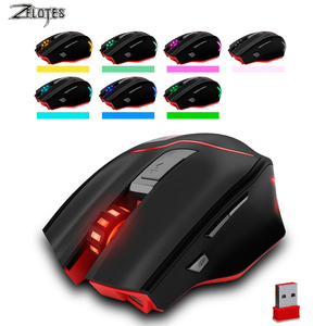Image 2 - ZELOTES F 18 Dual mode Gaming Mouse6 Level 3200DPI 500Hz Wireless 7 Color Computer Mouse  2.4GHz With Mini USB