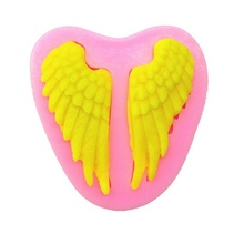 DIY baking angel wings chocolate silicone mold fondant cake decoration soft clay
