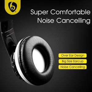 Image 5 - Sur loreille basse stéréo Bluetooth casque sans fil casque Support Micro SD carte Radio Microphone
