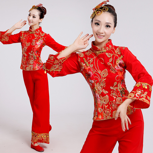 da3d91ab5 Oriental Dance Costumes Chinese Folk Dance Women Chinese Ancient Costume  Elegant Ladies Traditional Chinese Dance Costumes