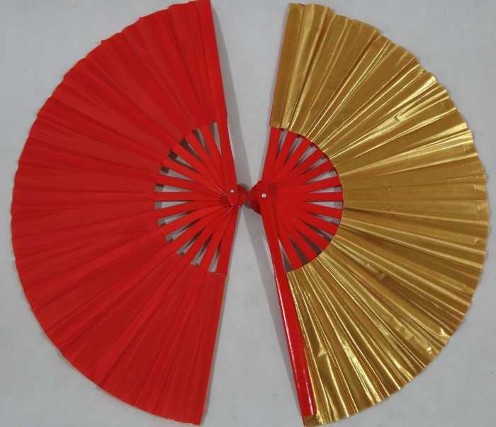 Red-golden zwei seiten farbe fan bambus doppelte seiten tai chi fan double face kung fu taiji fans