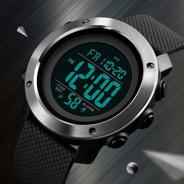 SKMEI Топ Роскошные спортивные часы для светодио дный мужчин водостойкий светодиодный цифровые часы модные повседневное для мужчин наручные ...