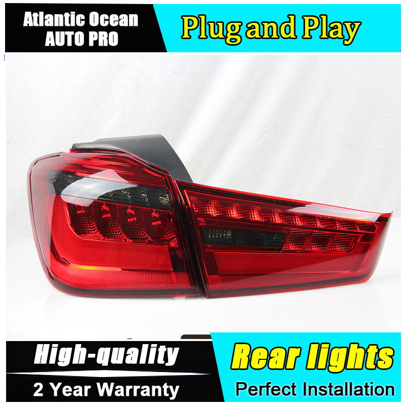 JGRT Car Styling for Mitsubishi ASX Taillights for New ASX LED Tail Lamp Outlander EX LED Rear Lamp Fog Light For 1Pair ,4PCS car styling tail lights for toyota highlander 2015 led tail lamp rear trunk lamp cover drl signal brake reverse