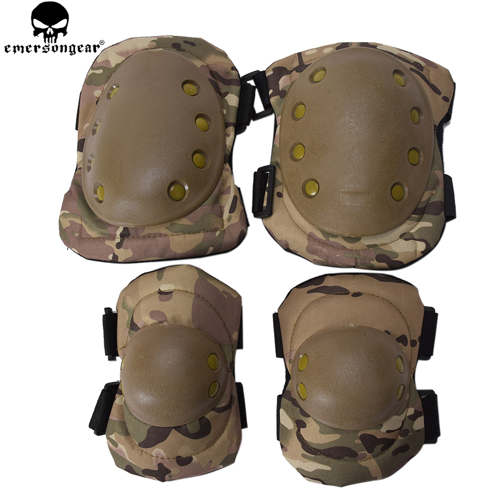 EMERSONGEAR Protective Knee Pads Elbow Pads Set Combat Airsoft Tactical Protective Pads Multicam Black BD2772 цены онлайн