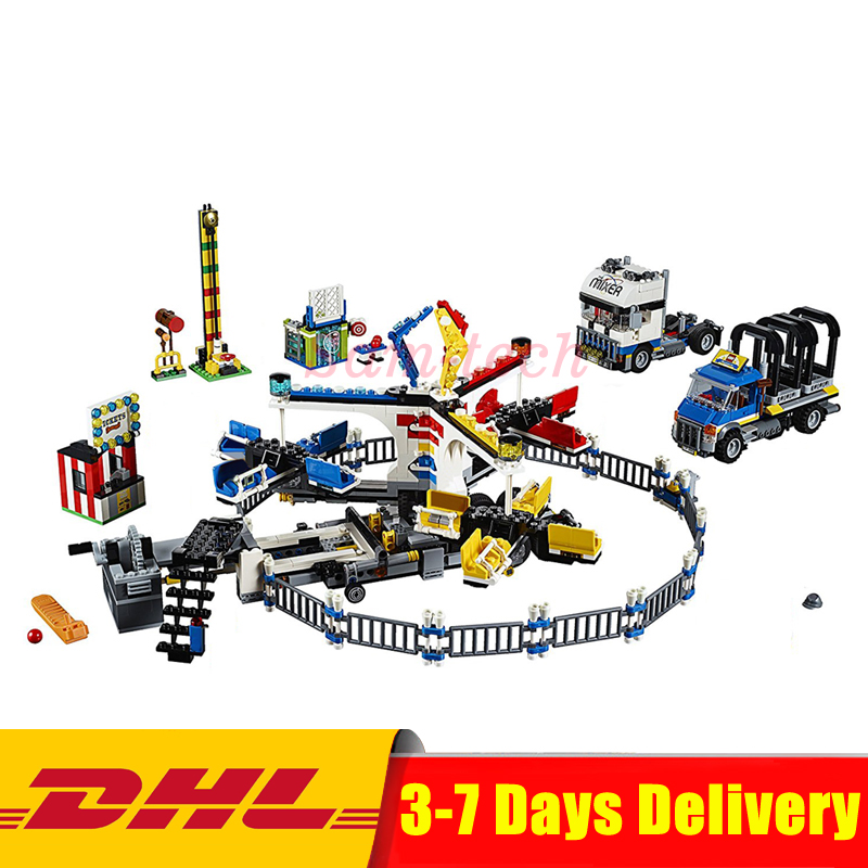 DHL Lepin 15014 Genuine Street Series The Amusement Park Giant Stride Carnival Set 10244 Building Blocks Bricks Educational Toy the unhappy giant level 3