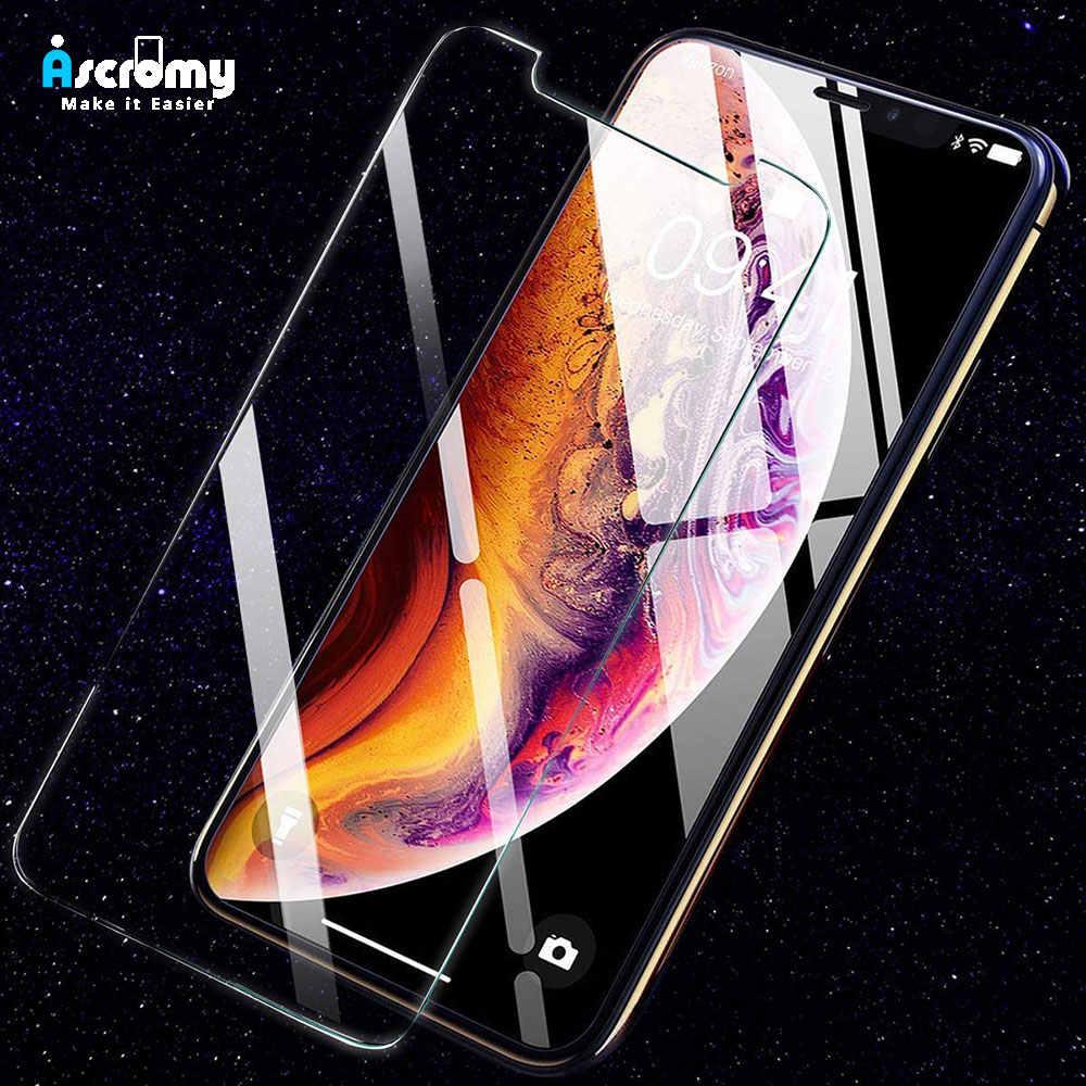 Ascromy dla iPhone XR ochraniacz ekranu szkło hartowane dla iPhone XS 11 Pro Max X 7 8 Plus 6 6S 5 5S SE 5C 4 4S akcesoria do telefonów