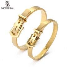 2020 nuovo 316L D'acciaio di Titanio Fibbia Della Cintura Braccialetto per Le Donne di Colore Oro Argento Braccialetti di Fascino Cinghia degli uomini di Polsino Bracciali gioielli