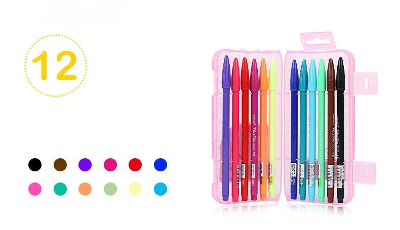 36 cores gel caneta 0.3mm ponta de