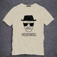 Fashion Breaking Bad Los Pollos Hermanos Men T Shirt Heisenberg Short Sleeve O Neck Tops Tees