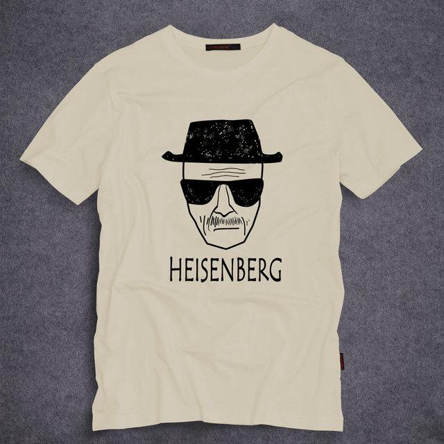 Moda Camisa Dos Homens T Heisenberg Breaking Bad Los Pollos Hermanos Manga curta O Pescoço Tops Tees Novidade T-Shirt S-5XL