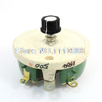 150W 500ohm Rotary Ceramic Potentiometer Taper Pot Resistor Rheostat variable resistor wire wound rheostat 50w 20 ohm 20ohm