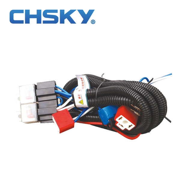 Wondrous Chsky Hot Sale Waterproof 12V 4 Light H4 Headlight Wiring Harness Wiring Cloud Hisonuggs Outletorg