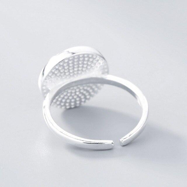 Todorova большой черный круглый натуральный камень Женское кольцо