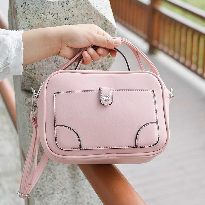 Beaocly Fashion Women Shoulder Bag High Quality Pu Leather Women Handbag Tote Female Sweet Crossbody Bag For Women Small Flap sweet women s tote bag with color block and pu leather design