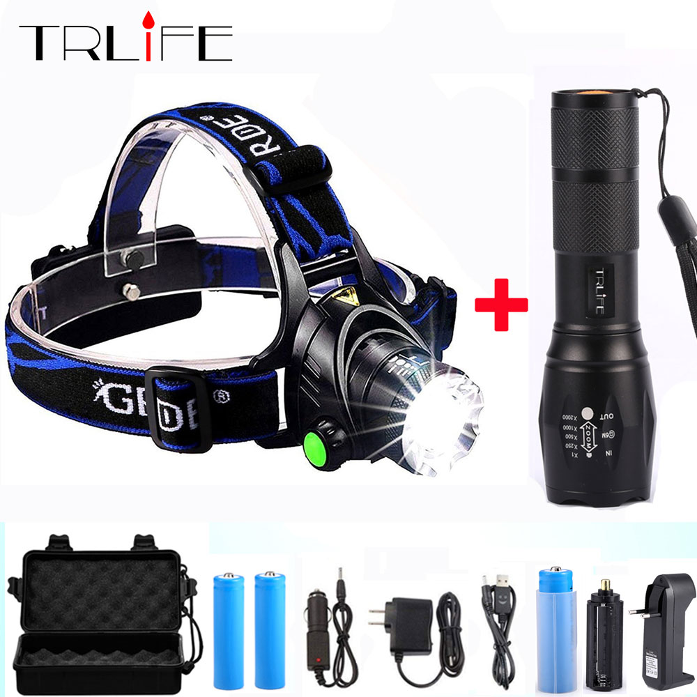 LED Headlight 10000LM LED Headlamp T6/L2/V6 Head light Zoom headlamps by 2*18650+LED Flashlight Zoomable Torch for 18650 battery boruit 10000lm xml t6 chips led headlamp rechargeable zoom headlight hunting camping head light flashlight by 18650 battery