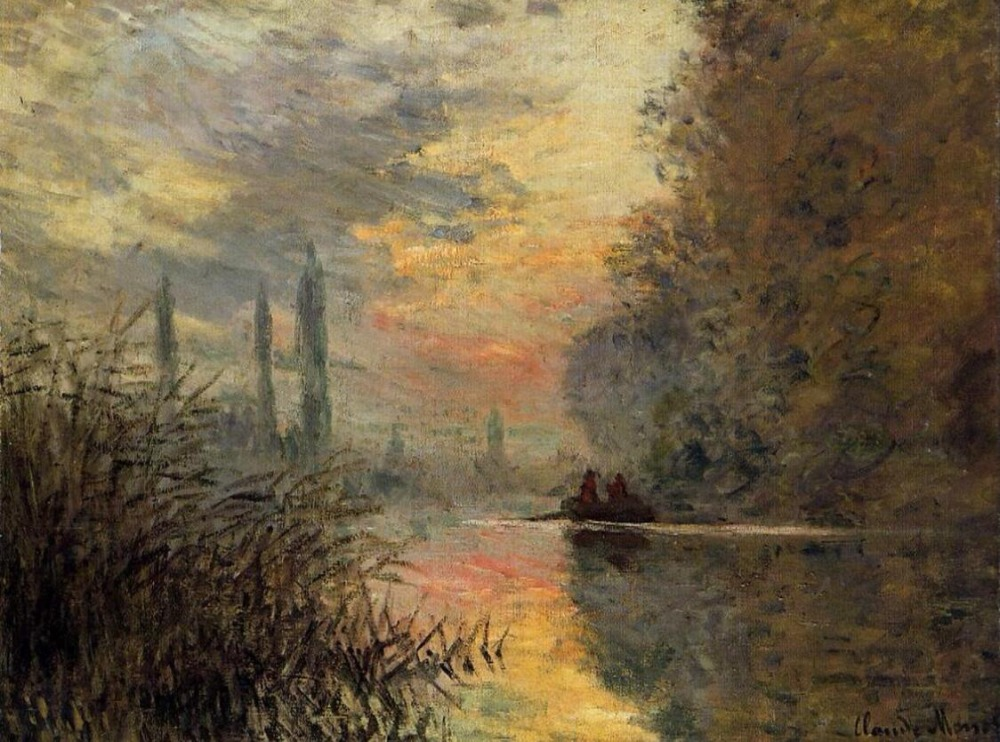 High quality Oil painting Canvas Reproductions Evening at Argenteuil (1876)  by Claude Monet hand paintedHigh quality Oil painting Canvas Reproductions Evening at Argenteuil (1876)  by Claude Monet hand painted