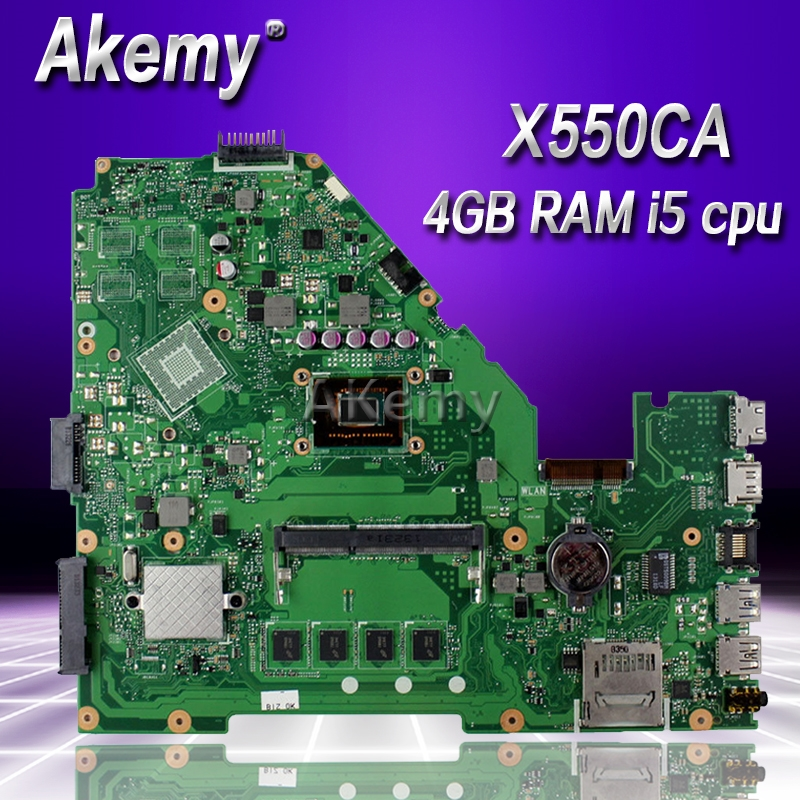 Akemy X550CA Laptop motherboard for ASUS X550CA X550CC X550CL R510C Y581C X550C X550 Test original mainboard