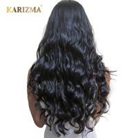 Karizma Indian Body Wave Hair Extensions 100% Human Hair Bundles Non Remy Hair Weave 8-28inch Natural Color 1 Pc Can Be Permed