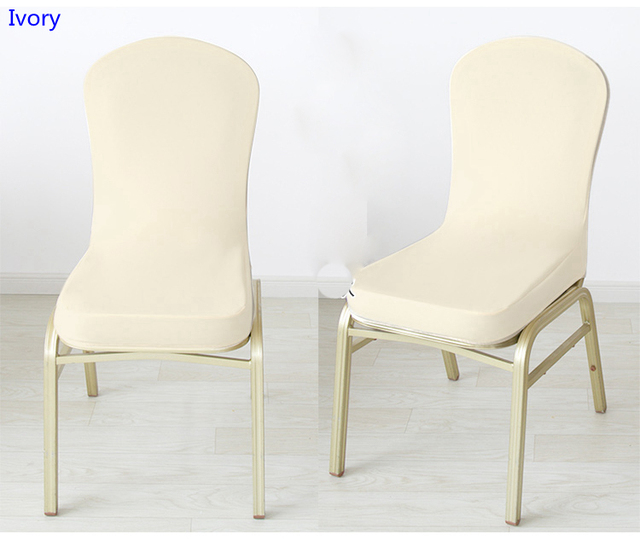 chair covers ivory herman miller arm colour half style spandex for wedding hotel home banquet decoration lycra stretch party cover