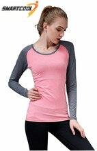 Womens yoga running t-shirt camisa Corriendo ropa deportiva femenina de la aptitud de manga larga mujeres tops workout ropa deportiva mujer