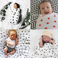 120 см * 120 см детские одеяла муслин органические бамбук хлопок крест одеяло младенца купания золотые звезды одеяло для новорожденных прямая поставка
