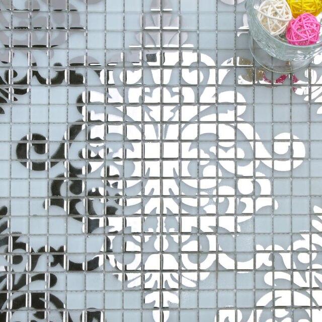 Wholesale Glass Tile Backsplash Patterns Silver Crystal