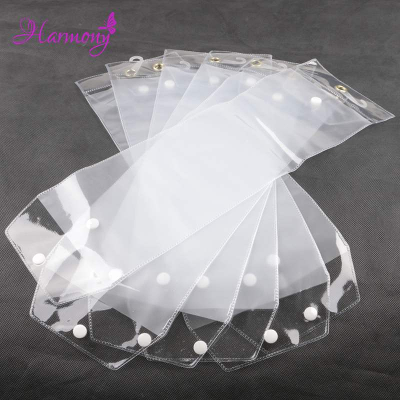 Freeshipping 40pcs/lot 12inch-26inch plastic pvc bags for packing hair extension transparent packaging bags