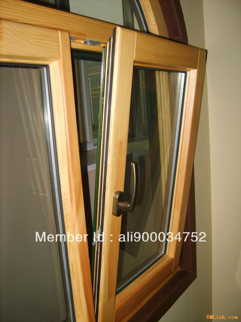High-end Wood-aluminum Tilt & Turn Window  For Residence Villas / Apartment, Size 1100*1000 ( W* H)